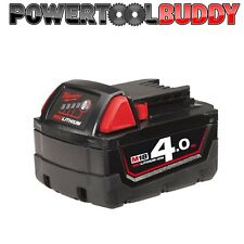 Milwaukee M18B4 18volt 4ah Li-ion Red Battery *NEXT DAY DELIVERY*
