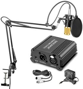 Neewer NW-700 Condenser Microphone Kit with 48V Phantom Power Supply、Pop Filter