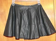 "L'AMOUR Nanette Lepore Medium A-LINE SKIRT (black faux leather 16"" long) perfect"