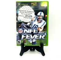 NFL Fever 2002 Microsoft Xbox Near Mint Complete Game Case Manual Free Shipping
