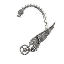 GENUINE Alchemy Gothic Earring – Icarus | Men's Ladies Steampunk Wings Ear Wrap