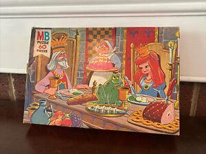Vintage 1978 Milton Bradley Storybook Series 60 Piece Puzzle, Princess And Frog