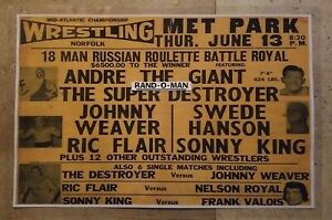 Mid-Atlantic Wrestling Poster 18 Man Battle Royal Featuring Andre The Giant
