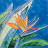 "Bird of Paradise - Decorative Ceramic Art Tile -8""x8"" by En Vogue-Art on Tiles"