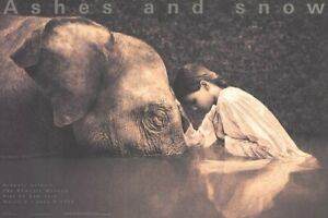 GREGORY COLBERT Girl with Elephant 24 x 36 Poster 2005 Photography Brown