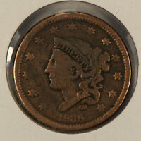 1838 1c Coronet Head Large Cent SKU-Y2597