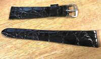 Brazilian Crocodile 18mm Black Vintage Watch Band Stunning Rare Watch 18mm Strap
