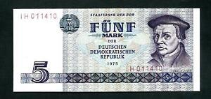 East Germany (P27a) 5 Mark 1975 aUNC