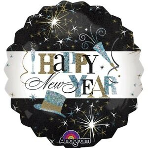 HAPPY NEW YEAR CELEBRATION FOIL BALLOON PARTY DECORATION YEARS EVE LARGE 71cm