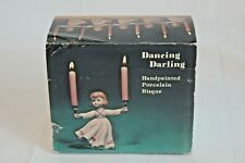 Dancing Darling Handpainted Porcelain Bisque Candleholder Original Box 1979 Pink