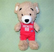 Build A Bear NBA Big Head BEAREMY Teddy Bear Rockets Basketball Outfit Plush Toy