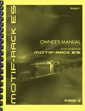 Yamaha MOTIF RACK ES Synthesizer OWNER'S MANUAL with DATA LIST