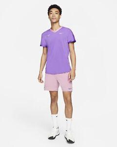 Nike Court Rafa Nadal Advanced Dri Fit V Top  CV2802 528 Wild Berry Sz L