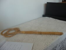 VINTAGE PRIMITIVE RUG BEATER  BAMBOO    LIGHT COLOR  28 INCHES LONG