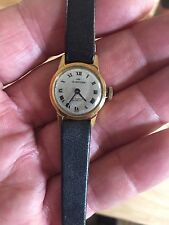 Vintage Working MF CORTINA 17 Jewels Incabloc Watch 18k 0175 Italian Leather