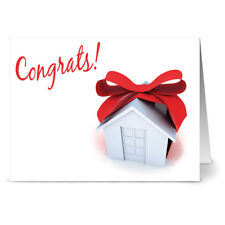 24 Note Cards - Congrats on Your New Home - Kraft Envs