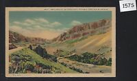 COLORADO / Vintage Linen postcard / Unused / Switchbacks in the Rocky Mountains