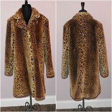 Vtg. Worthington Faux Leopard Women's Coat Size M - Soft