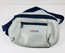 USAir Airline Vintage  Bag Fanny Pack 8 Inch Long Flight Carry On.