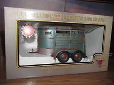 horse trailer lt blue motor city classics unrestored weathered 1/18 diecast