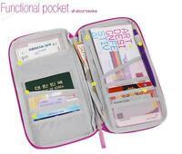 New Travel Passport Credit Card Cash Document Wallet Purse Bag Holder Organizer