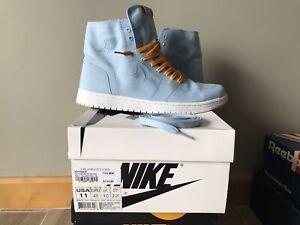 Nike Air Jordan 1 Retro High Decon Ice Blue Men's 11 867338-425 sheen white og