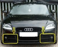 Genuine AUDI TT 8J (2006-2014) Bumper Fog Light Grill LEFT+RIGHT PAIR SET