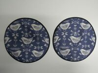Set 2 Aga Hob Covers. Scandi blue birds. Available with hanging loops.
