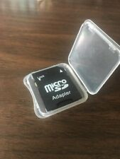 Micro Sd to Sd Hc Sdhc Memory Card Adapter Reader W/ Slim Plastic Case - New