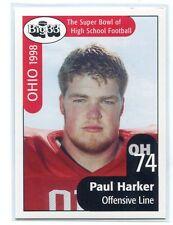 PAUL HARKER 1998 Big 33 Ohio OH High School card MICHIGAN STATE Spartans OL