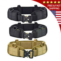 Tactical Military Molle Waist Belt Padded Combat Battle Quick Release Strap USA