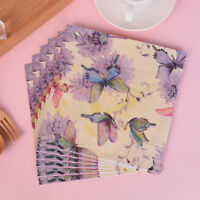 20pcs Butterfly Pattern Decoupage Napkins Papers Tissue for Xmas Wedding Dec HO