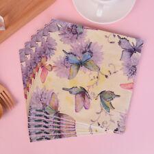 20pcs Butterfly Pattern Decoupage Napkin Paper Tissue for Xmas Wedding Decor  R