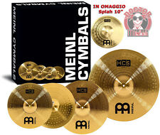 "MEINL Set piatti HCS Ride 20'', Crash 16'', Hi-hat 14"" + Splah 10"" omaggio"