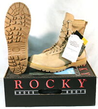 NIB US Military ROCKY 790 ICB Goretex Combat Boots Vibram Sole TAN 14.5 XW