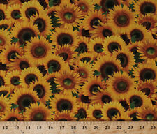 Sunflowers Ladybugs Flowers Floral Gardening Cotton Fabric Print by Yard D564.27