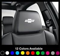 6x CHEVROLET Chevy Logo Headrest Car Seat Decals Badge Aveo Cruze Camaro Malibu