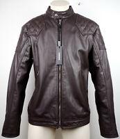 DIESEL LALETA JACKET Leather Lederjacke Herren Bikerjacke Gr.XXL NEU mit ETIKET
