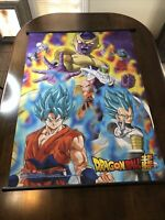 "Dragon Ball Z Wall Scroll DBZ Goku Vegeta Trunks Super Saiyan 44""x33"" Nice"