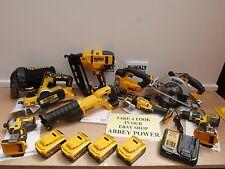DEWALT XR 18V 8 KIT COMBO DCP580 DCS355 DCN660 DCS391  5 AH + FREE DCL050 LIGHT