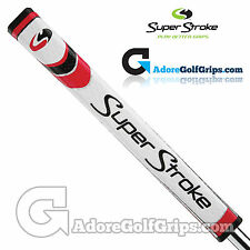 SuperStroke PISTOL GTR 2.0 Legacy Series Putter Grip - White / Red + FREE Tape