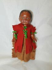 "Antique Averill Composition Doll Ethnic Doll 12"" Tall  Circa 1920's"