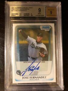 2011 Bowman Chrome Jose Fernandez Rookie Auto Baseball Card Miami Marlins