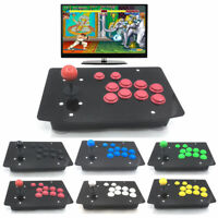 RAC-J500S 10 Buttons Arcade Joystick USB Wired Black Acrylic Panel For PC