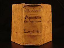 1622 Manuel de Sa Aphorismi Confessariorum On Forbidden Libro Índice Inquisition
