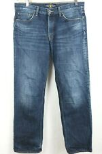 Lucky Brand Mens 34x32 Distressed 361 Vintage Straight Blue Jeans