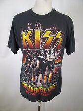 VTG Men All Sport 100% Cotton Kiss Band Farewell Tour T-Shirt Size L (44) A0252
