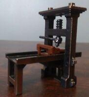 Vintage Die-Cast Miniature Antique Printing Press Pencil Sharpener School Office