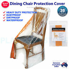 4 x Small Furniture Protector Plastic Dust Cover Dining Chair Sofa Storage Bag