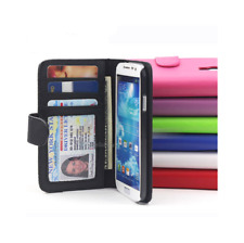 White/Pink iPhone 4 4G 4S 4GS Wallet Credit Card Flip Leather Pouch Case Cover